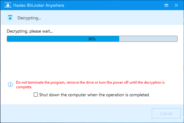 How to Remove BitLocker Drive Encryption in Windows 10 Home?