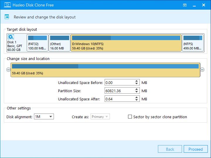Windows遷移編輯磁盤佈局