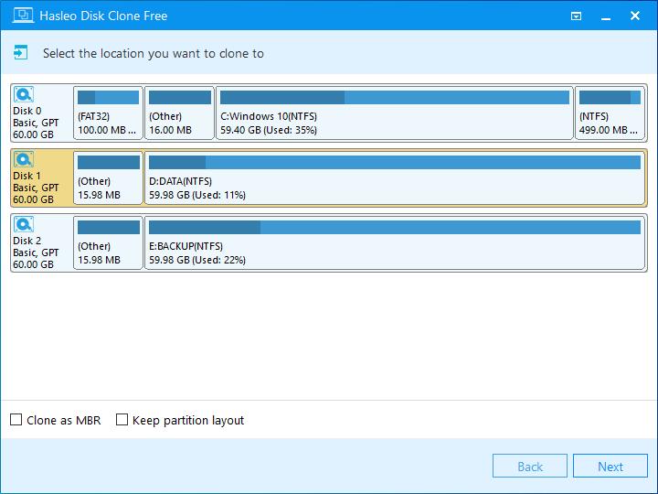 Windows遷移選擇目標磁盤