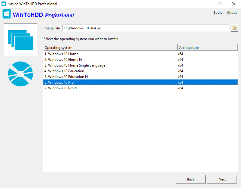 WinToHDD Technician 4.4 + Portable Install Windows From The Hard Drive