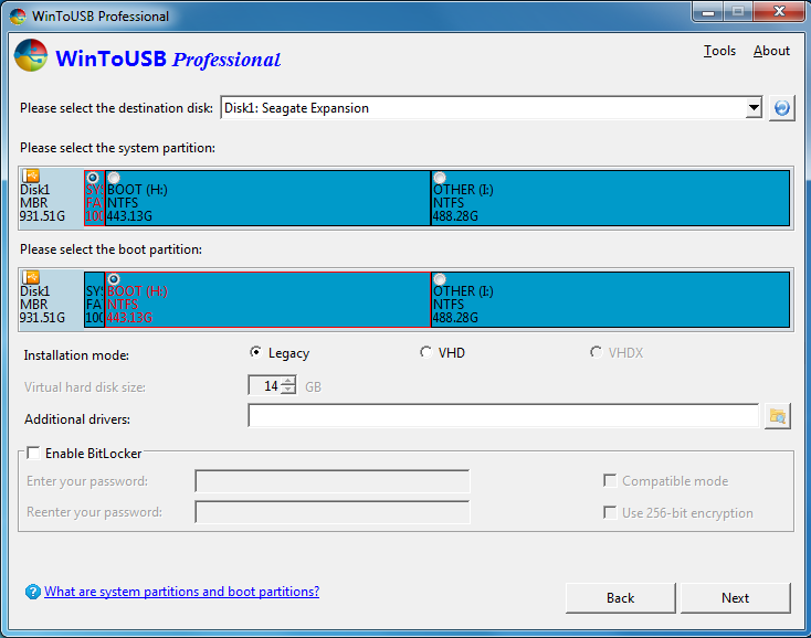 How to create a Windows 7 To Go USB drive - WinToUSB?