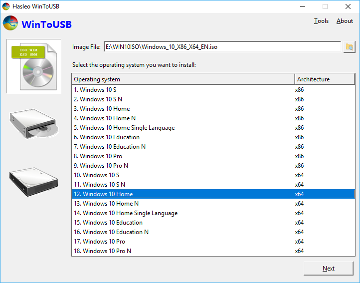 How to install Windows 10 to a USB flash drive as portable