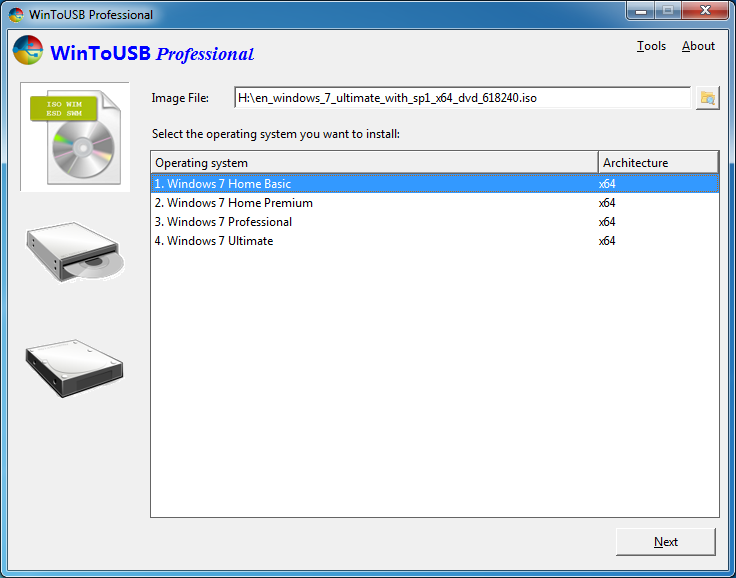 windows 7 professional download usb