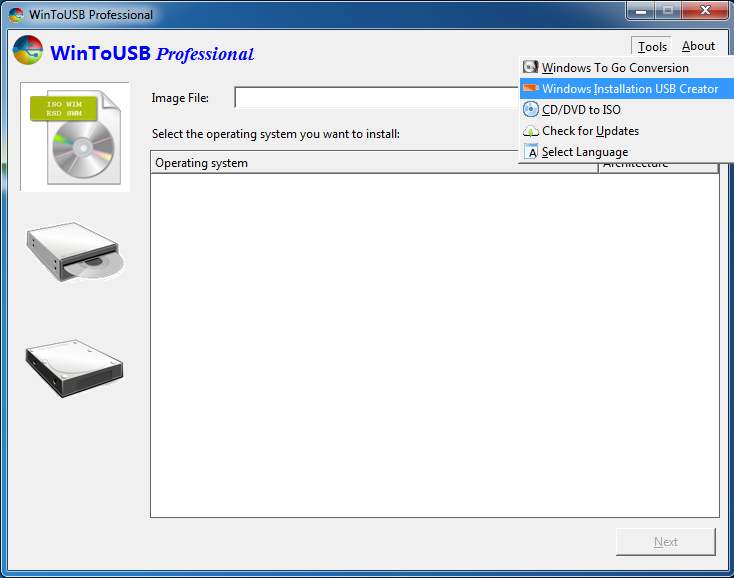 usb install windows 7 tool
